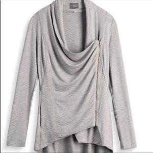 Market & Spruce Alan Asymmetrical Zip Cardigan-XL